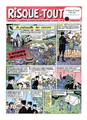 Consulter les informations sur la BD Risque-tout 11: La patrouille des castors - l'homme invisible