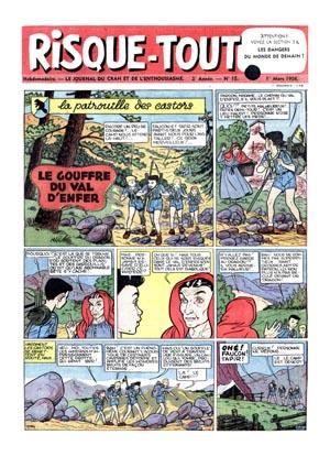 Consulter les informations sur la BD Risque-tout 15: La patrouille des castors - Le gouffre du Val d'Enfer