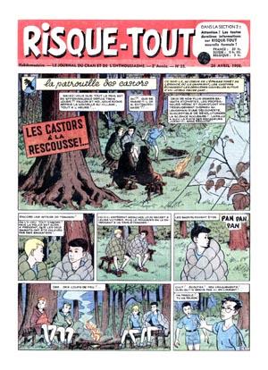 Consulter les informations sur la BD Risque-tout 23: La patrouille des castors - Les castors à la rescousse