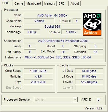 athlon64 3000+ venice