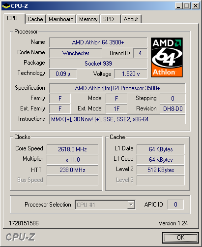 athlon64 3000+ winchester