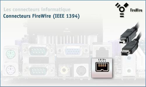 Connecteur FireWire (IEEE 1394)