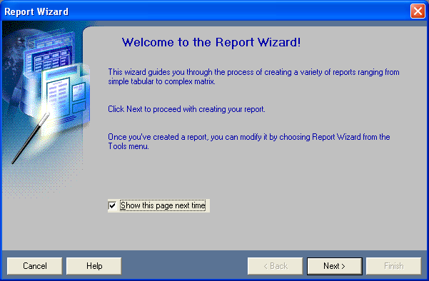 Welcome to the Report Wizard!