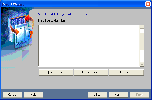 Select the data that you will use in your report