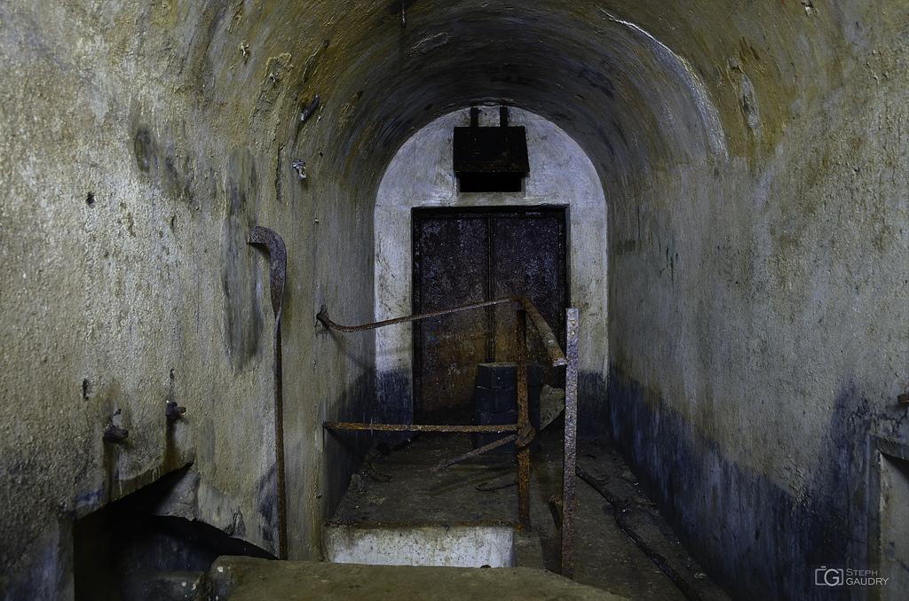 En haut du puits de l'ancien accès vers les coffres de tête...