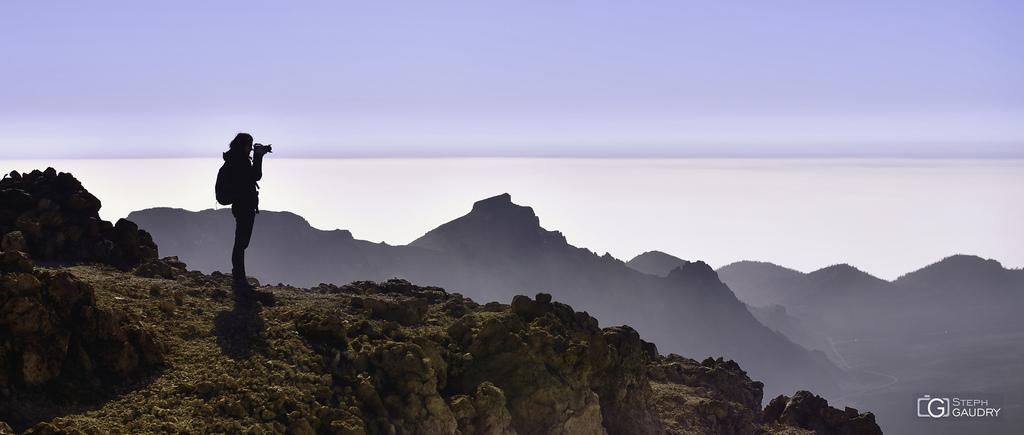 Sombra en el Alto de Guajara