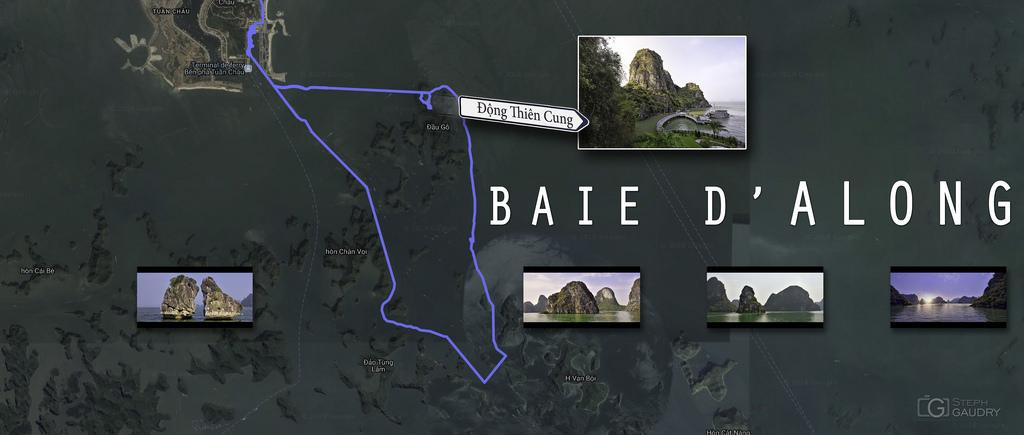 Carte de la baie d'Along