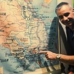 Ho Chi Ming sur le carte du Vietnam