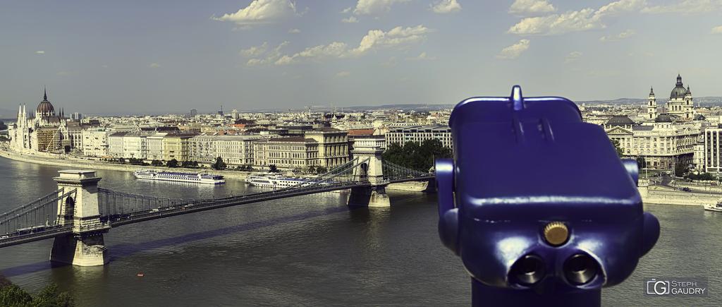 Pest et le parlement, vus depuis le château de Buda