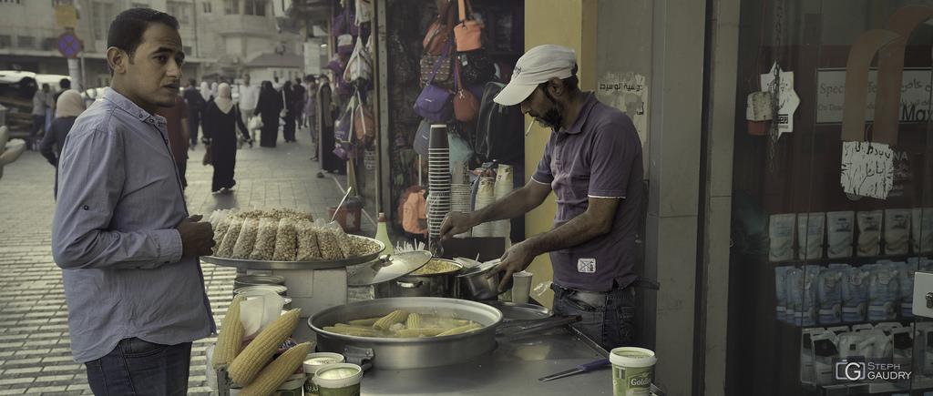 Marchand de maïs à Hamman (JOR)