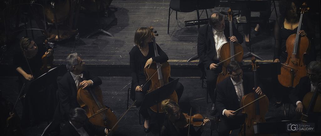 Opéra  Liège - en attendant le chef d'orchestre