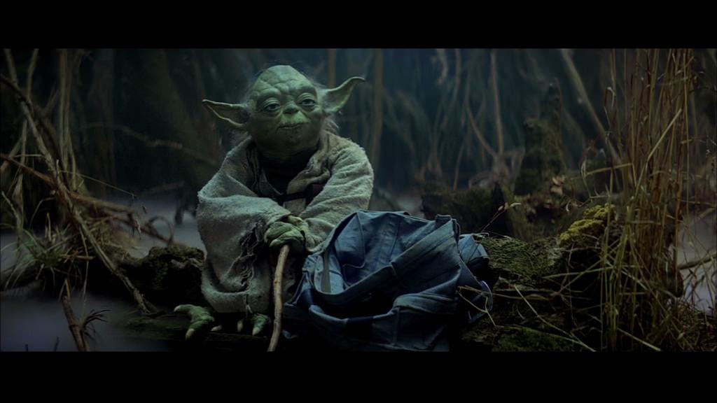 Maitre Yoda sur Dagobah