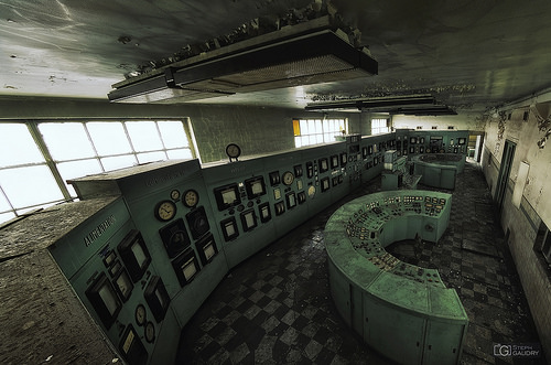 La salle de contrôle verte