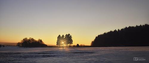 Coucher de soleil sur Andrimont, Chevrouheid