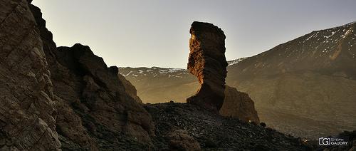 Coucher de soleil sur le Roque Cinchado