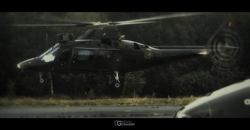 Décollage d'un hélicoptère A-109