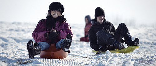 Snow sled races