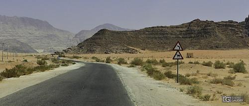 En route vers le Wadi-Rum...