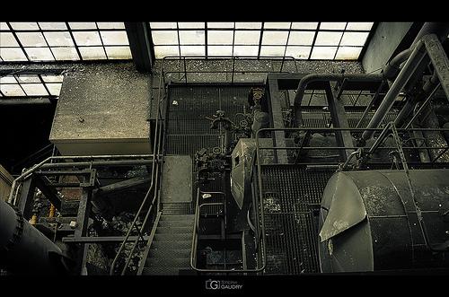 Micro centrale - vue arrière depuis l'étage