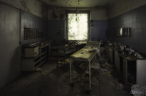 Cabinet médical abandonné