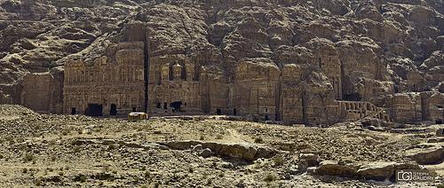 Petra, vue sur  les tombeaux royaux