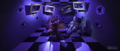 Dali - Paranoïa critique - éclairage bleu