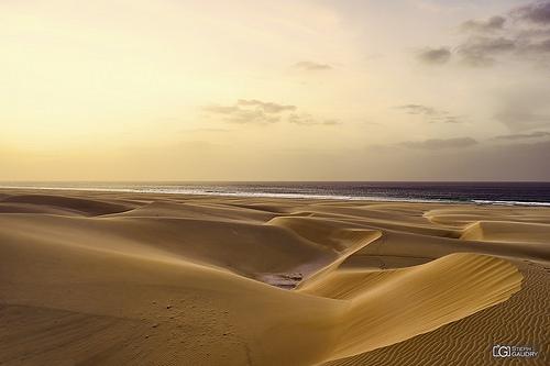 Coucher de soleil sur Praia de Chavez