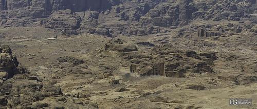 Chaque morceau de rocher est sculpté à Petra...