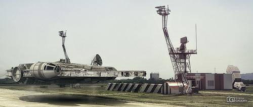 Milenium falcon landing...