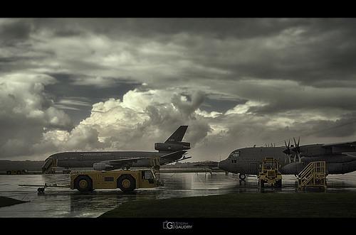 Eindhoven Airport - KDC-10, F16 Fihgting Falcon, C130H-30 Hercules