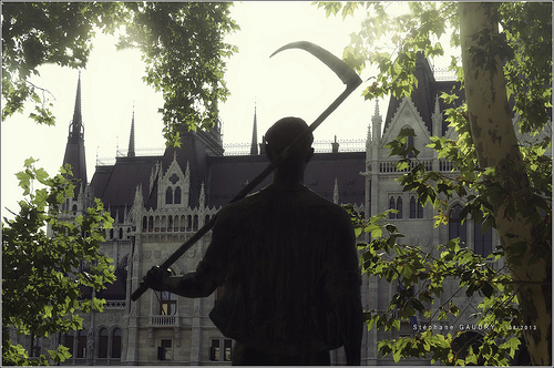 Parliament and farmer statue from the Ministry of Agriculture Gallery