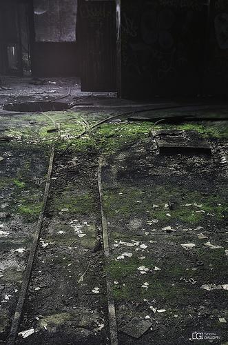 Les rails vers le trou de Morlocks