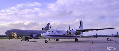 Eindhoven airport (NL), KDC-10 / Fokker 50 / F-16 falcon / C-130 Hercules
