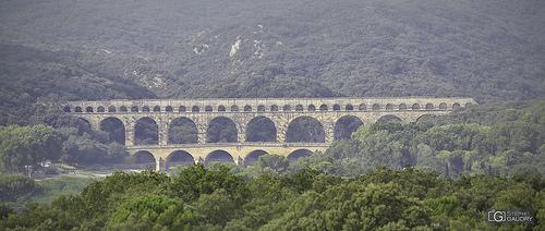 Pont du Gard (vu depuis Castillon-du-Gard)