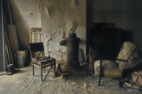 A comfortable chair and the warmth of a good stove