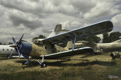 Biplane Antonov An-2 and Antonov An-12