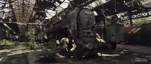 MÁV 424-287 (Abandoned Red star train)
