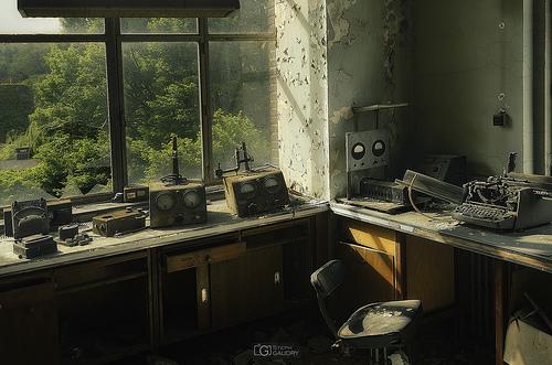 Abandoned chemistry lab