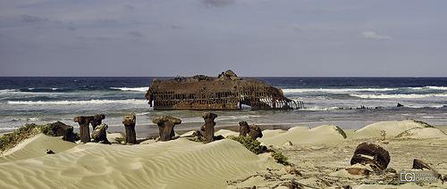 Restes du naufrage du Cabo Santa Maria