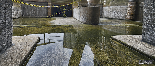 Reflect under the cooling tower