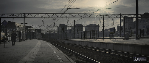 Eindhoven, les quais de la gare