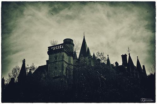 Photo vintage du château de Noisy dans les bois