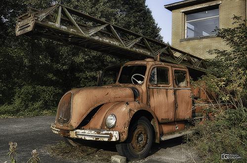Le camion de pompiers du sanatorium