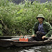 Miniature Barque sur la rivière Ngo Dong (Vietnam)