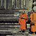 Thumb Bouddhistes dans les anciens temples au Cambodge