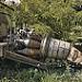 Miniature Un torboréacteur abandonné dans les bois
