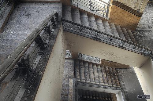 Sanatorium D. Left wing stairs