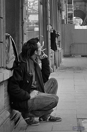 Le fumeur espionné