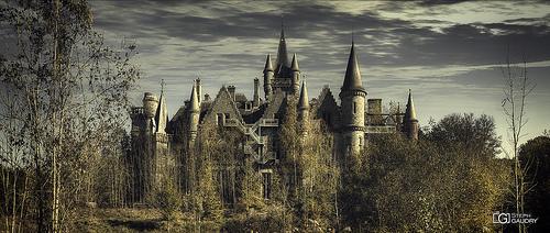 La façade arrière du château de Noisy