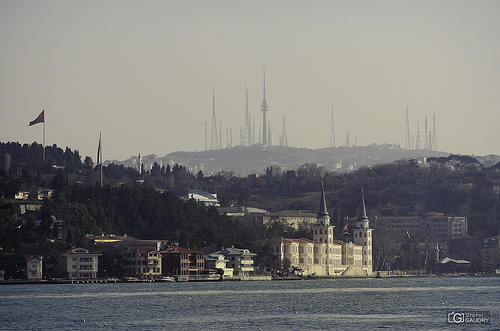 Bosphorus and forest of antennas